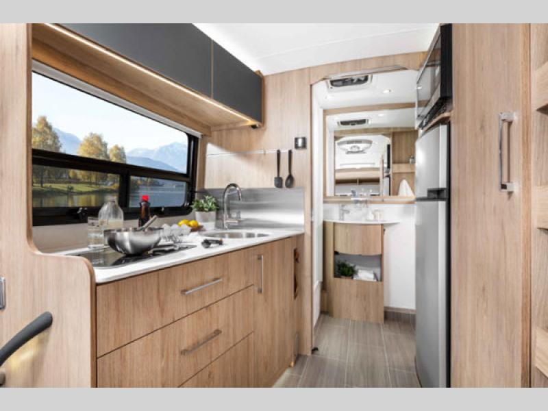 Wonder Class B+ Motorhome Review kitchen