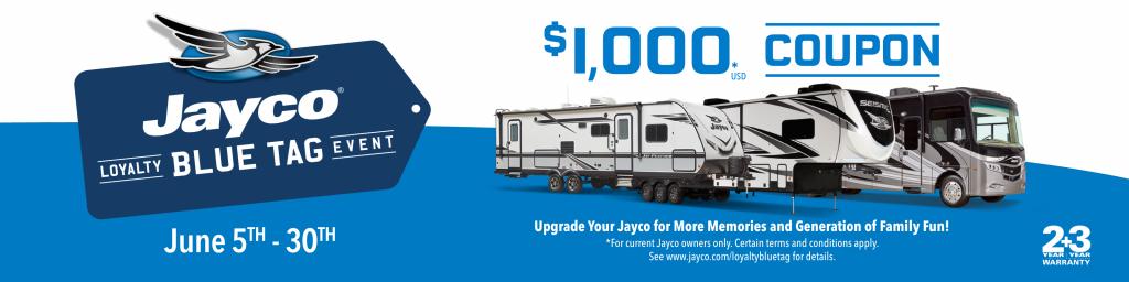 get 1,000 savings from jayco